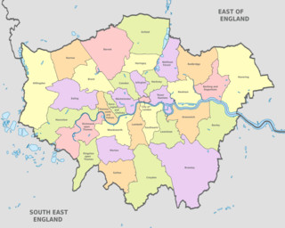 Plano de distritos (boroughs) de Londres