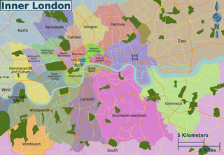 Plano de barrios de Londres